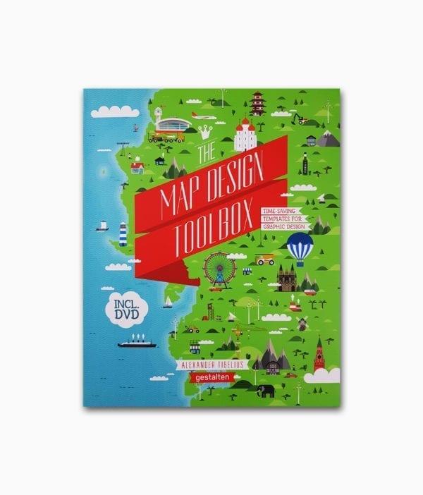 Cover des Kartografie Buches namens The Map Design Toolbox vom gestalten Verlag