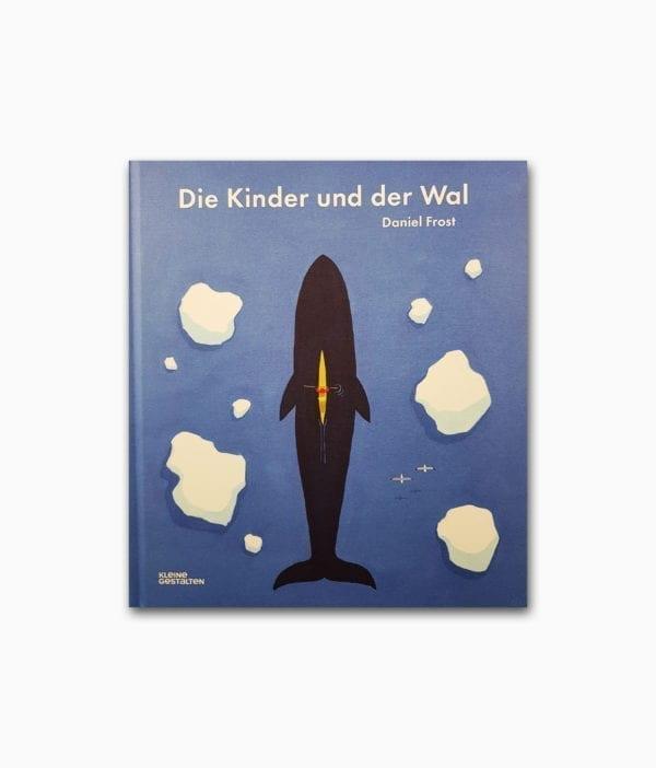 Cover des Kinderbuches über Tiere im Meer mit dem Titel Die Kinder und der Wal kleine gestalten Verlag Buchcover