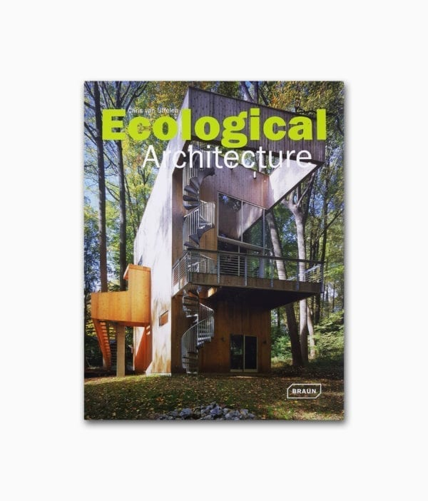 Buchcover des Architektur Bildbands namens Ecological Architecture von Braun Publishing