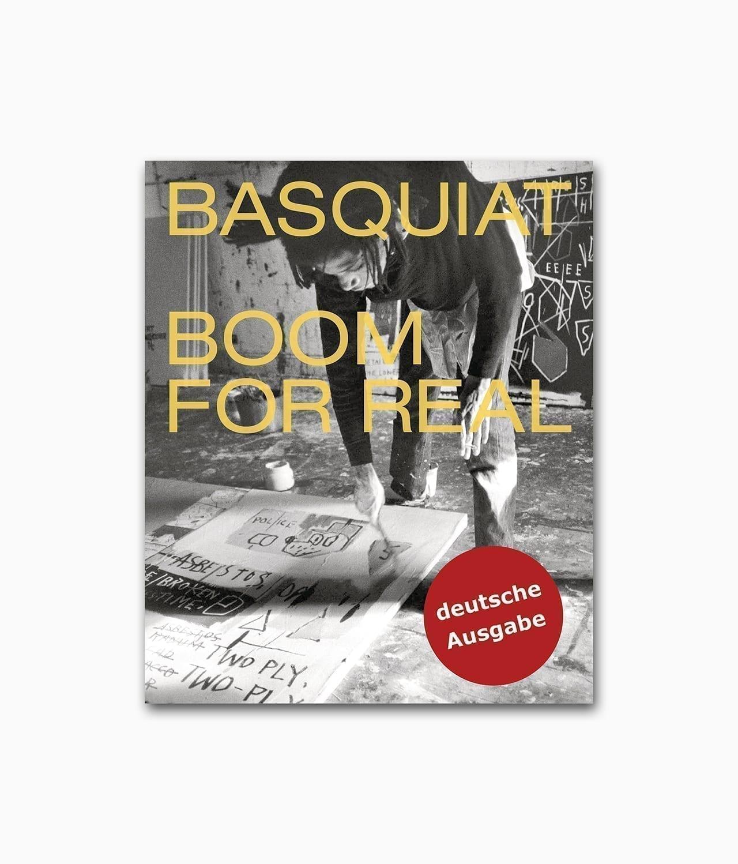 Cover des Street Art Buches über Jean-Michel Basquiat mit dem Titel Basquiat Boom For Real erschienen im Prestel Verlag