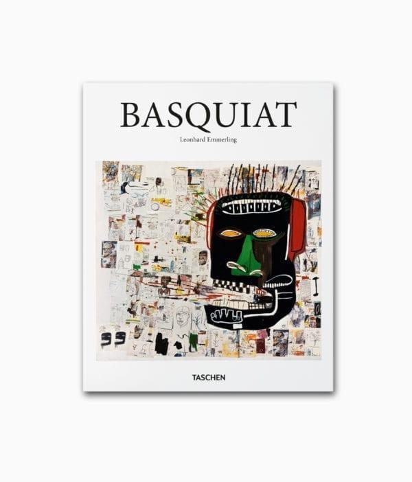 Kunstbuchcover des Titels Basquiat über den Street Art Künstler Jean-Michel Basquiat erschienen in der kleinen Reihe des TASCHEN Verlags