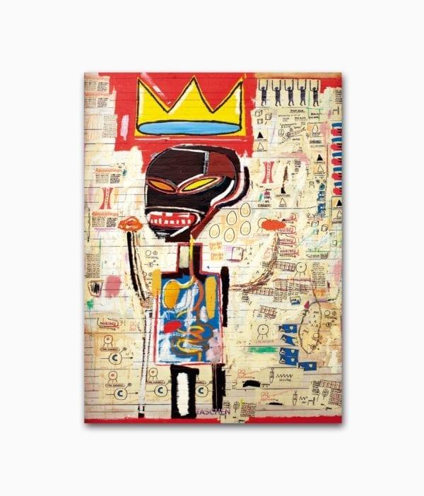 Cover des Kunstbuches über den berühmten Street-Art-Künstler Basquiat mit dem Buchtitel Jean-Michel Basquiat erschienen im TASCHEN Verlag