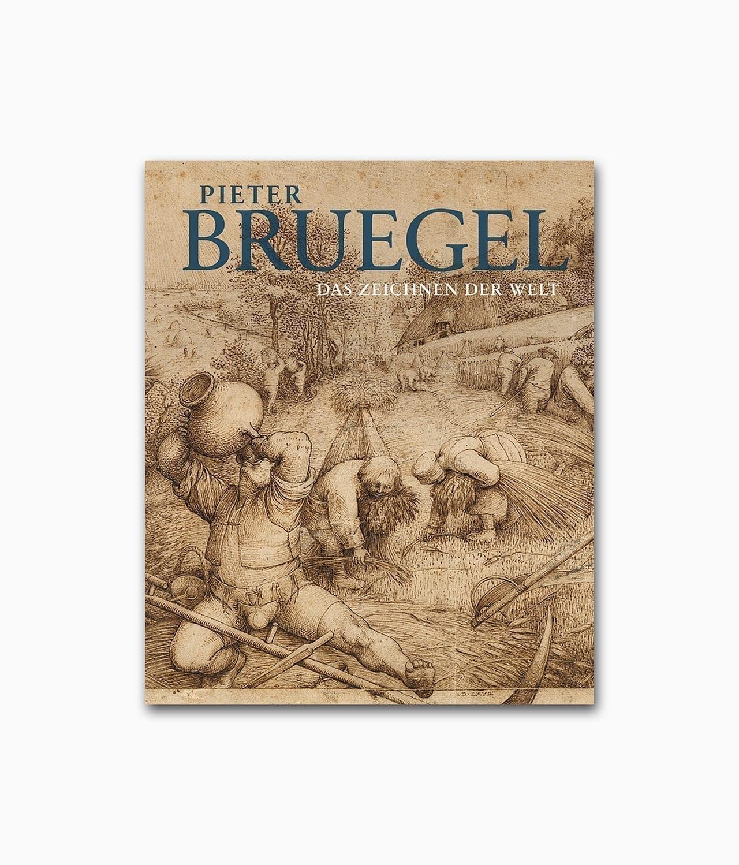 Cover des Buches über den berühmten Künstler Pieter Bruegel namens Das zeichnen der Welt aus dem Hirmer Verlag