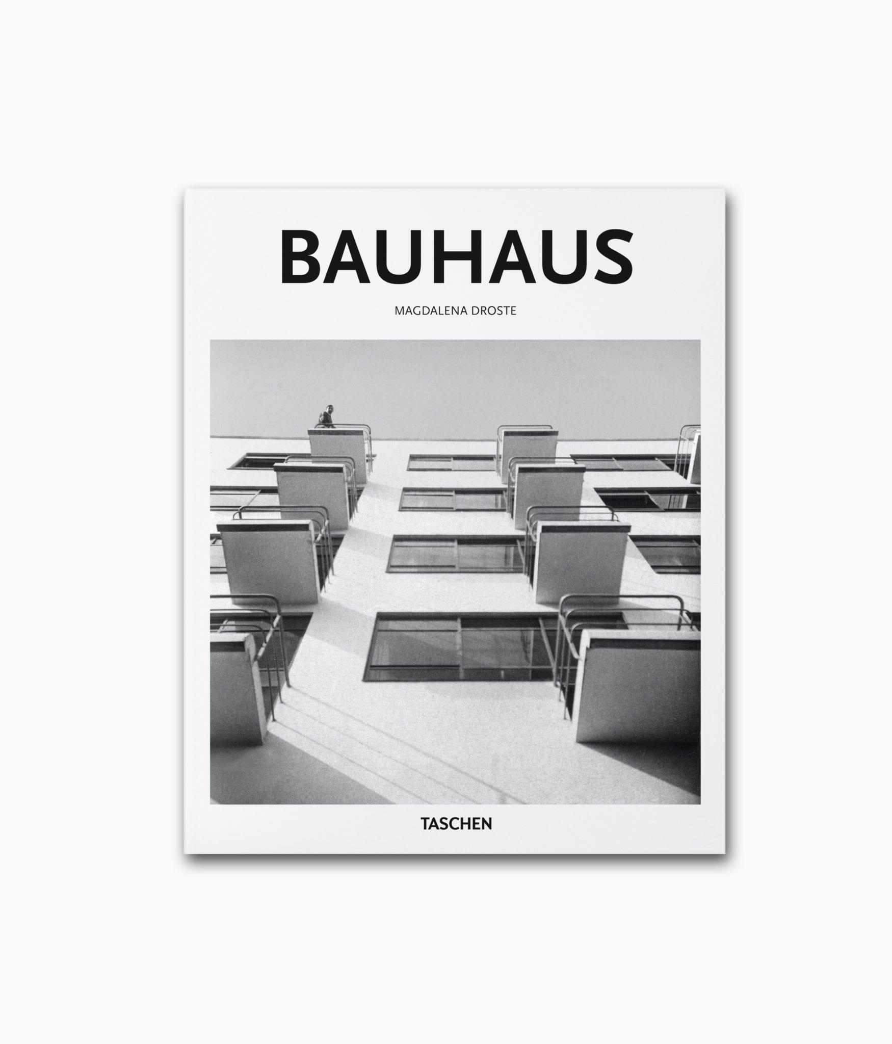 Cover des Architektur Bildbandes mit dem Buchtitel Bauhaus aus der kleine Reihe des TASCHEN Verlag