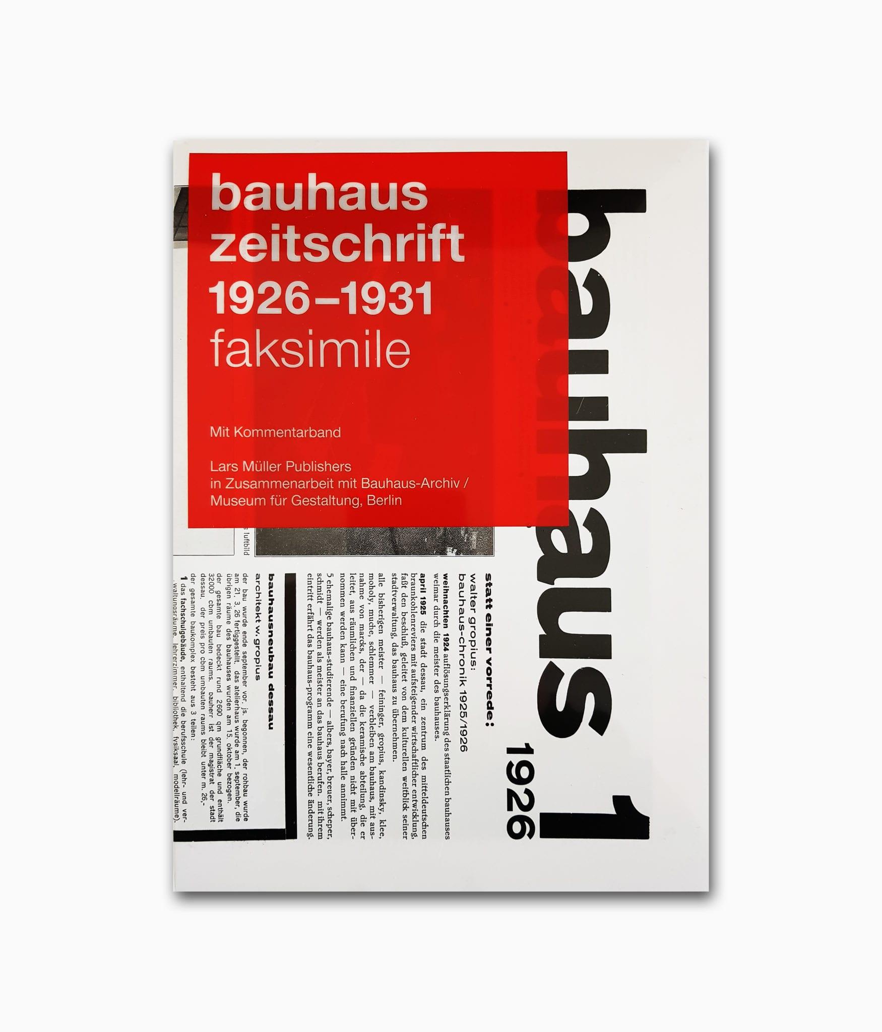 Bauhaus Zeitschrift Lars Müller Publishers Cover