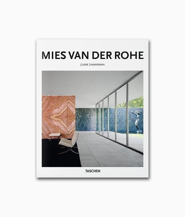 Cover von dem Buch über den berühmten Architekten namens Mies van der Rohe vom TASCHEN Buchcover