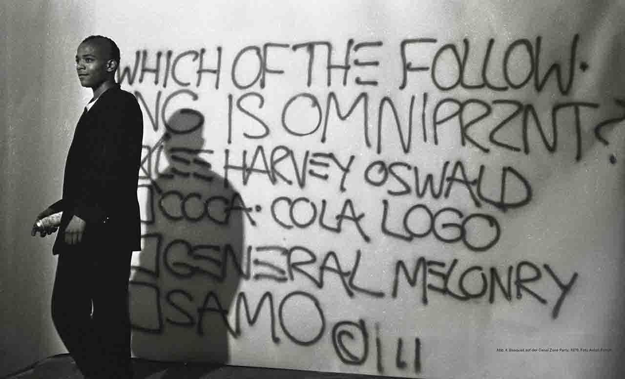 Bild mit dem berühmten Street-Art-Künstler Jean-Michel Basquiat aus dem Buch Basquiat Boom for Real erschienen im Prestel Verlag