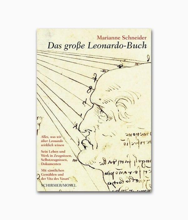 Cover des Kunstbuches mit dem Buchtitel Das große Leonardo Buch erschienen im Schirmer/Mosel Verlag