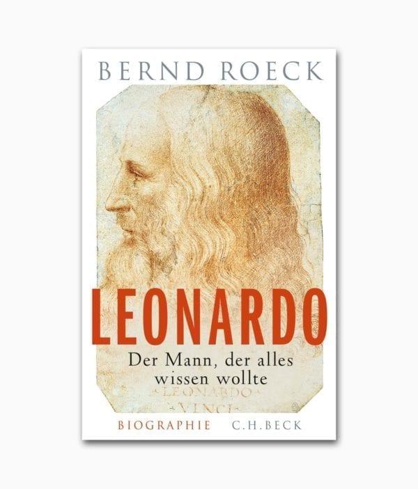 Cover des Kunstbuches mit dem Titel Leonardo Der Mann der alles wissen wollte erschienen im C.H. Beck Verlag