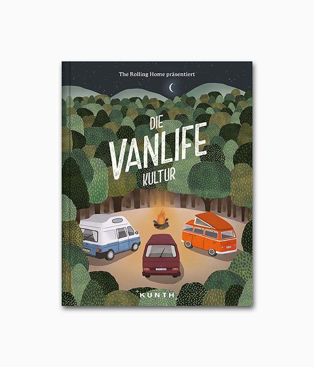 Cover des Abenteuer Bildbands namens Die Vanlife Kultur erschienen im Kunth Verlag