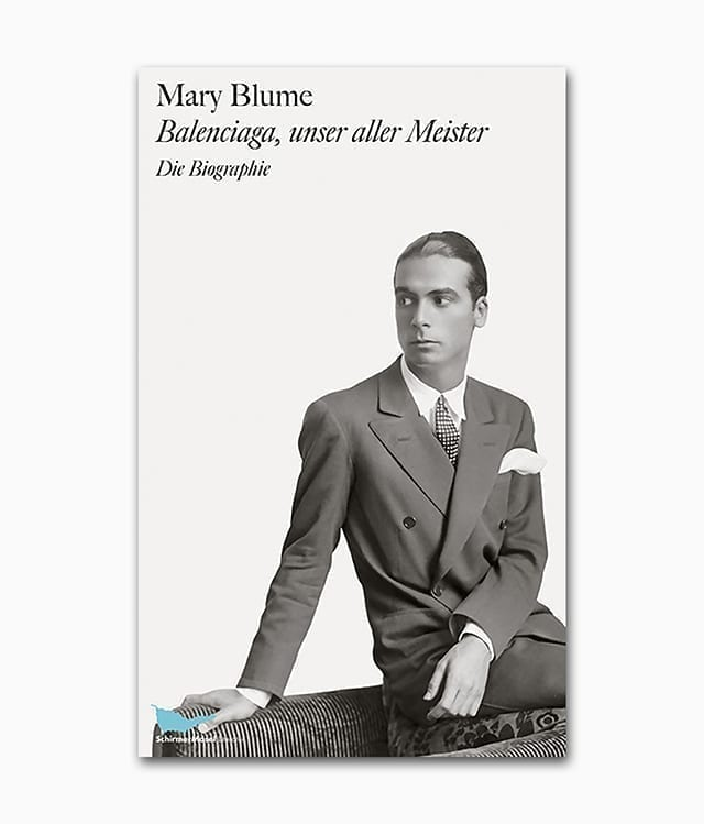 Cover des Bildbands über den Mode Designer Cristobal Balenciaga erschienen im Schirmer Mosel Verlag