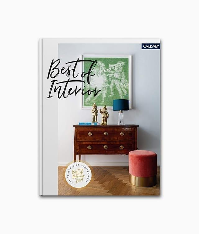 Cover des Interior Design Buches namens Best of Interior 2019 aus dem Callwey Verlag