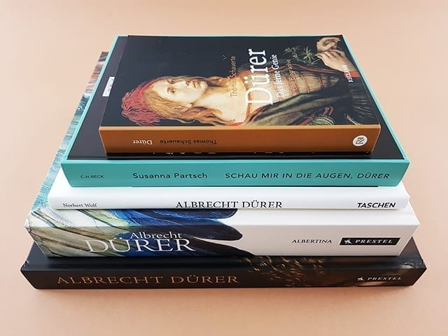 Bücher und Bildbände über Kunst von Albrecht Dürer Buchtisch