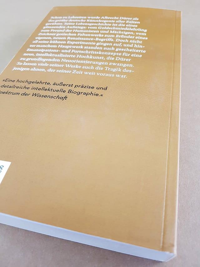 Thomas Schauerte Dürer Das ferne Genie Eine Biographie Reclam Verlag Buchrückseite