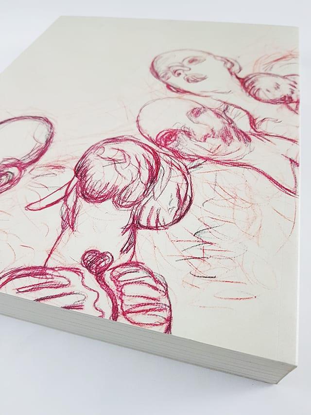 Große Realistik & Große Abstraktion Zeichnungen von Max Beckmann bis Gerhard Richter Kerber Verlag Buchrückseite