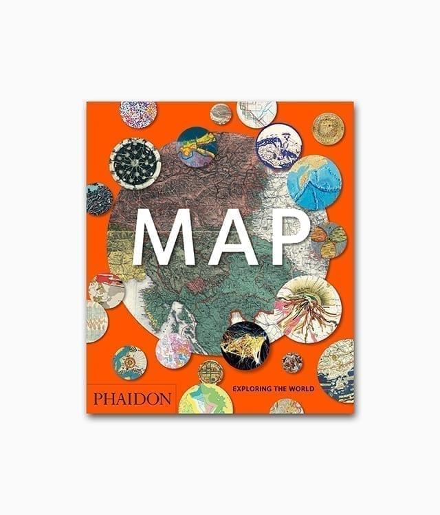 Cover des Kartografie Buches namens Map Exploring The World Phaidon Verlag