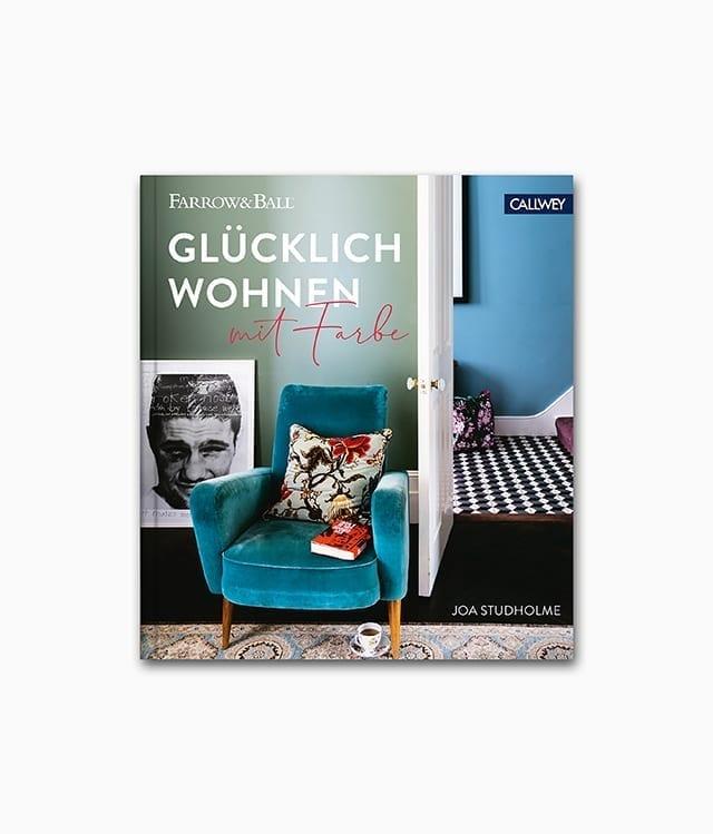 Cover vom Interior Design Buch namens Glücklich wohnen mit Farbe aus dem Callwey Verlag