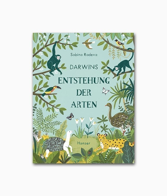 Cover des Kinderbuches über den Forscher Darwin aus dem Hanser Verlag