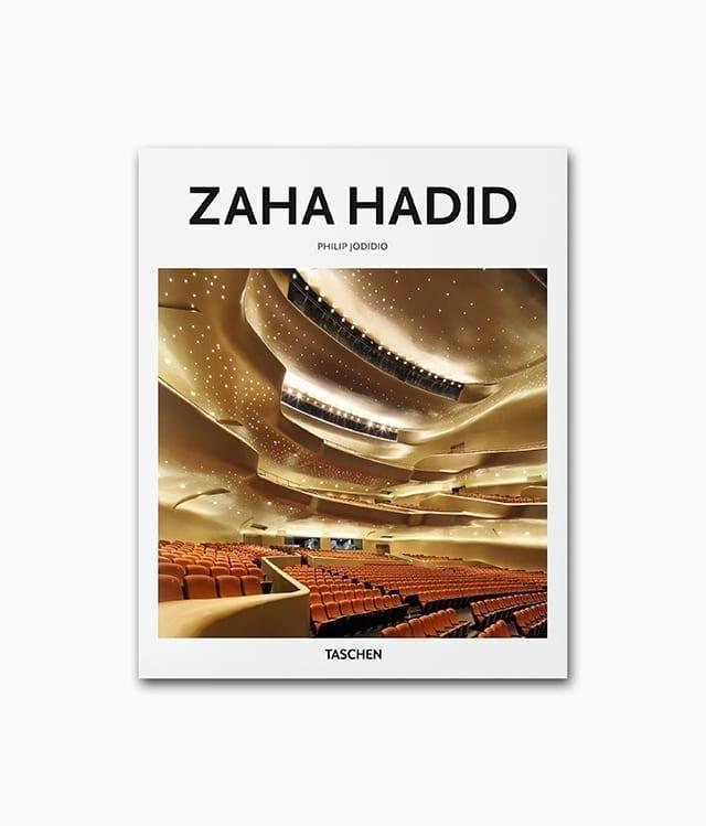 Cover des Buches über die berühmte Architektin des Brutalismus namens Zaha Hadid aus dem TASCHEN Verlag kleine Reihe
