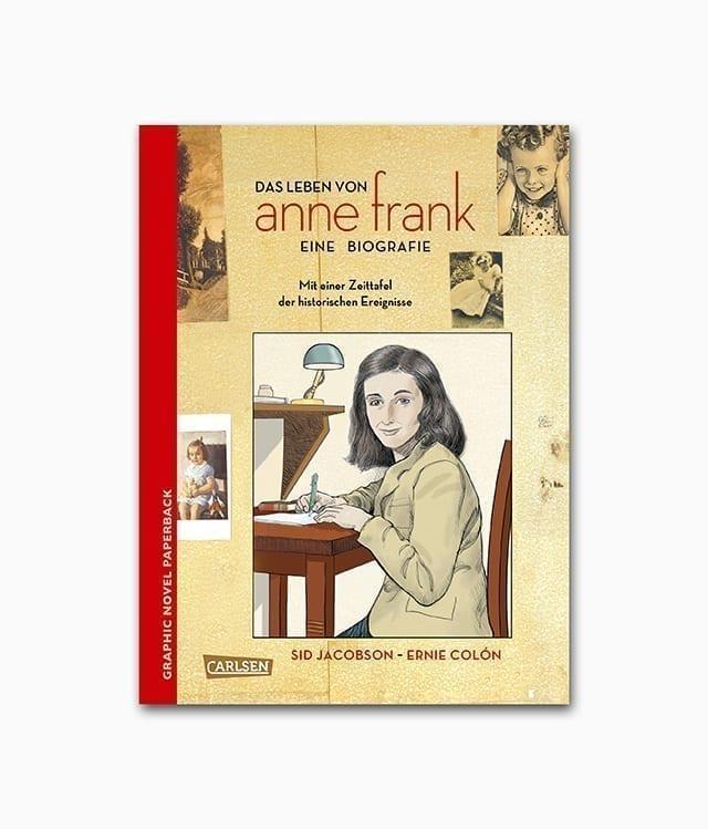 Cover vom Kinderbuch über Anne Frank vom Carlsen Verlag