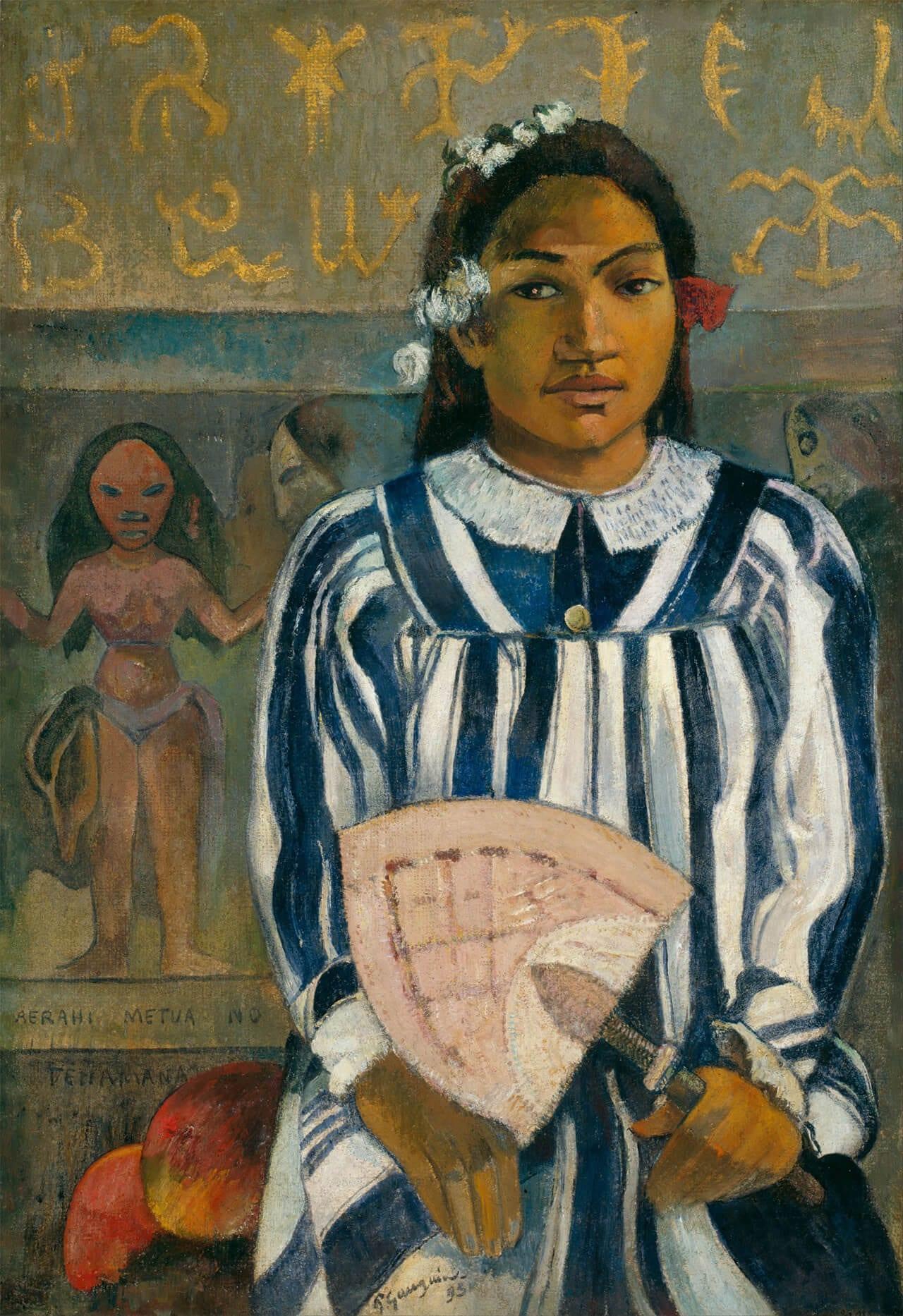 Merahi metua no Teha`amana (Teha`amana hat viele Eltern), 1893 © The Art Institute of Chicago Aus: Der Gauguin Atlas, Sieveking Verlag 2018.