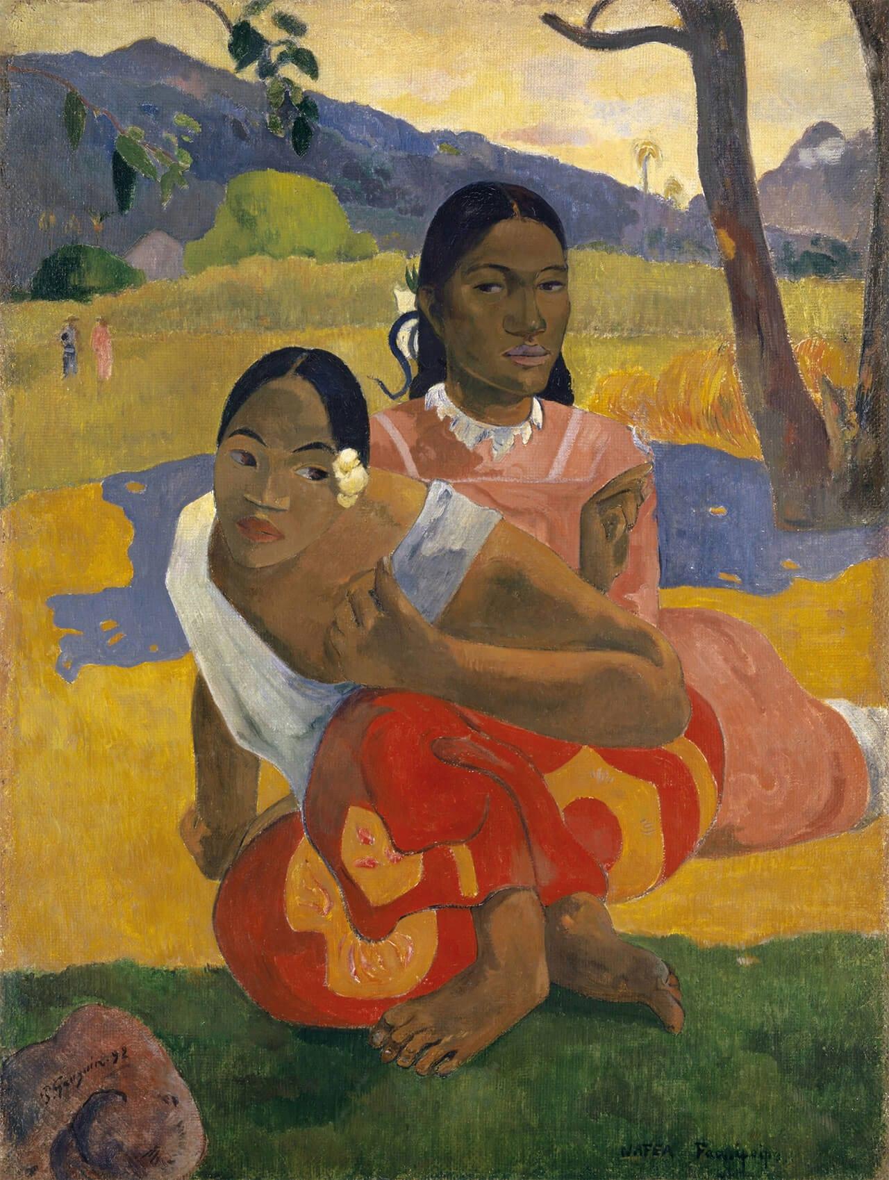 Nafea Faa Ipoipo (Wann heiratest Du?), 1892 © Privatsammlung Aus: Der Gauguin Atlas, Sieveking Verlag 2018