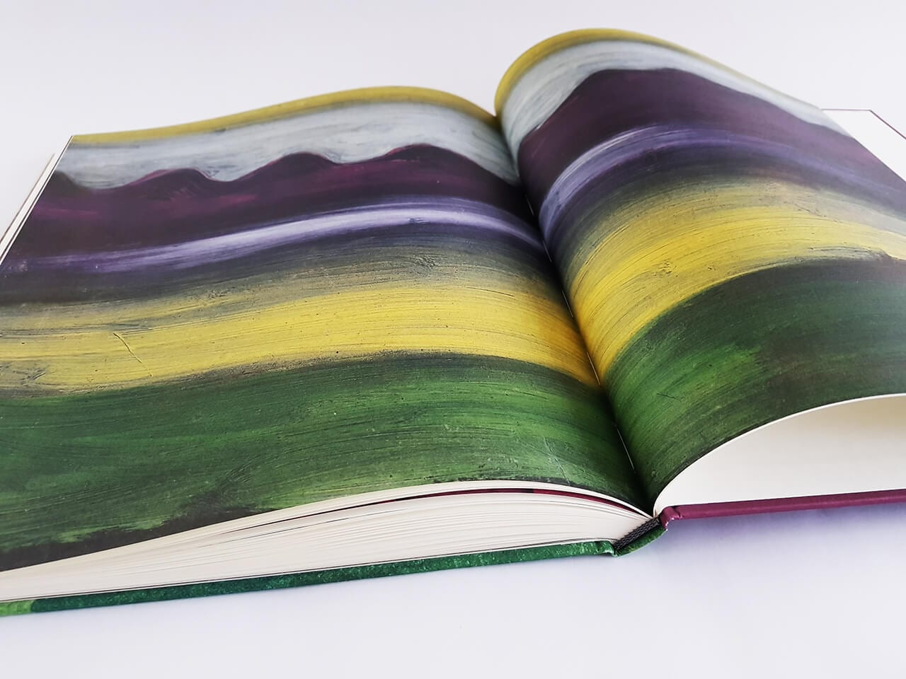 augeschlagenes Buch namens Paul Klee Landschaften Hirmer Verlag