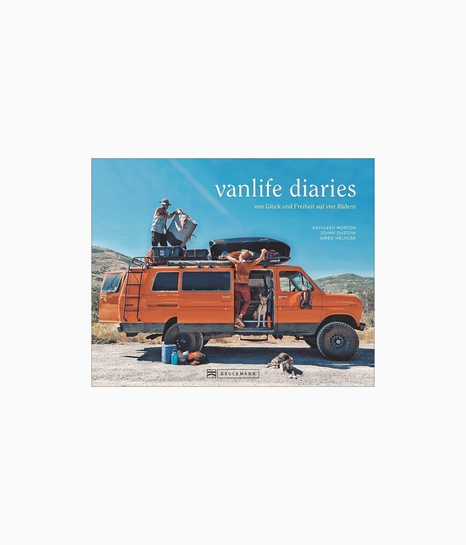 Cover vom Abenteuer Buch über Vanlife mit dem Titel Vanlife Diaries aus dem Bruckmann Verlag