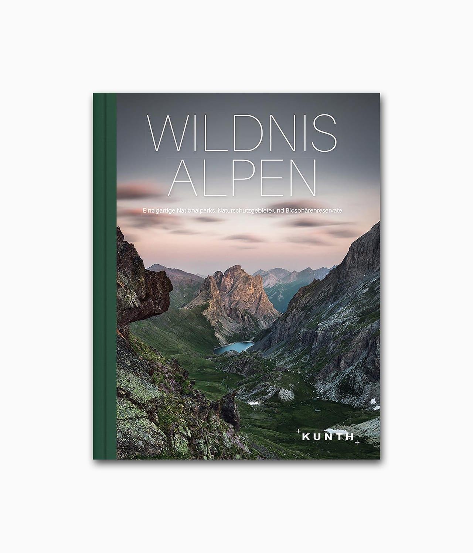 Buchcover des Buches über die Berge namens Wildnis Alpen aus dem Kunth Verlag