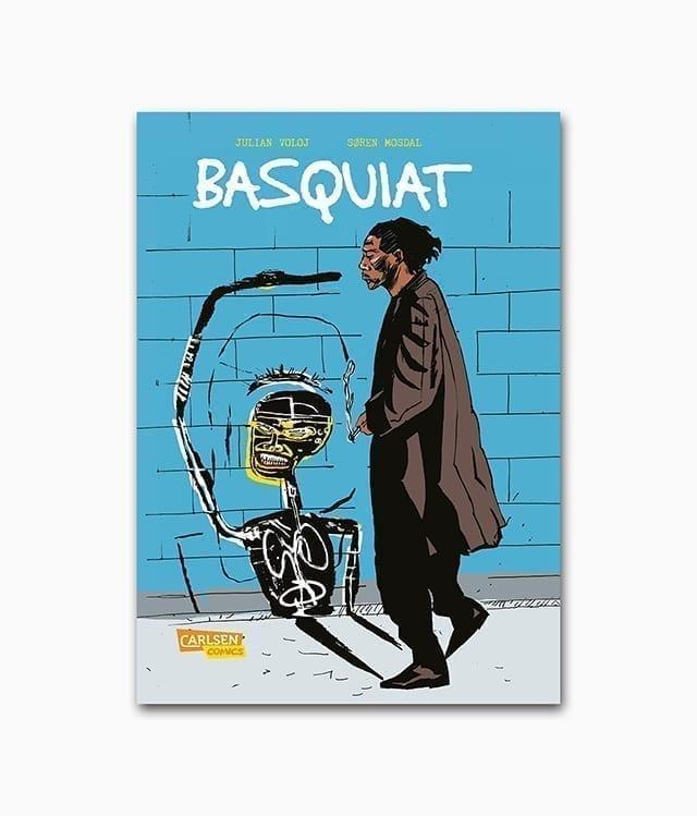 Cover des Graphic Novels über den Street-Art-Künstler Jean-Michel Basquiat mit dem Titel Basquiat aus dem Carlsen Verlag