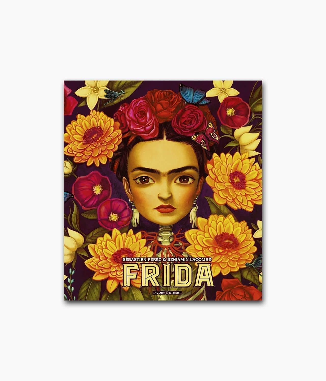 Cover des Kinderbuches über die starke Frau Frida Kahlo mit dem Namen Frida Jacoby und Stuart Verlag