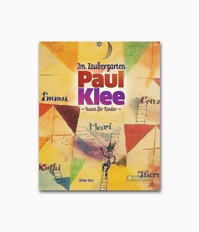 Cover vom Kunstbuch für Kinder über die abstrakte Kunst des deutschen Künstlers Paul Klee vom Prestel Junior Verlag