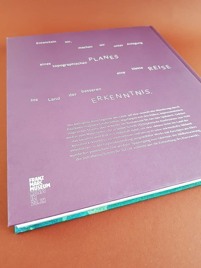 Paul Klee Landschaften Hirmer Verlag Buchrückseite