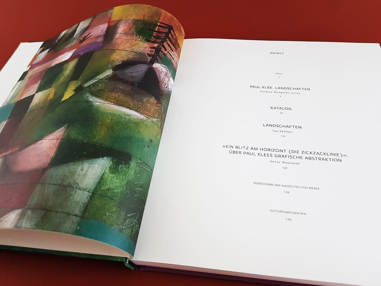 Paul Klee Landschaften Hirmer Verlag Inhaltsverzeichnis