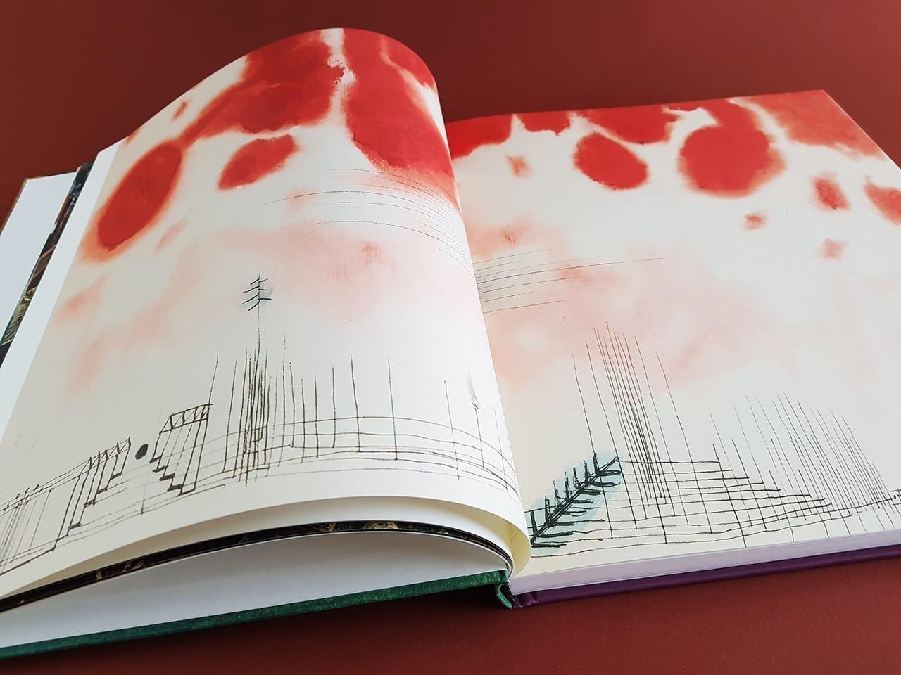 augeschlagenes Buch mit einer Arbeit von Paul Klee