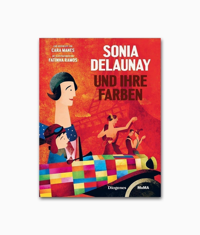 Cover des Kunstbuches für Kinder über die berühmte Künstlerin Sonia Delaunay erschienen im Diogenes Verlag