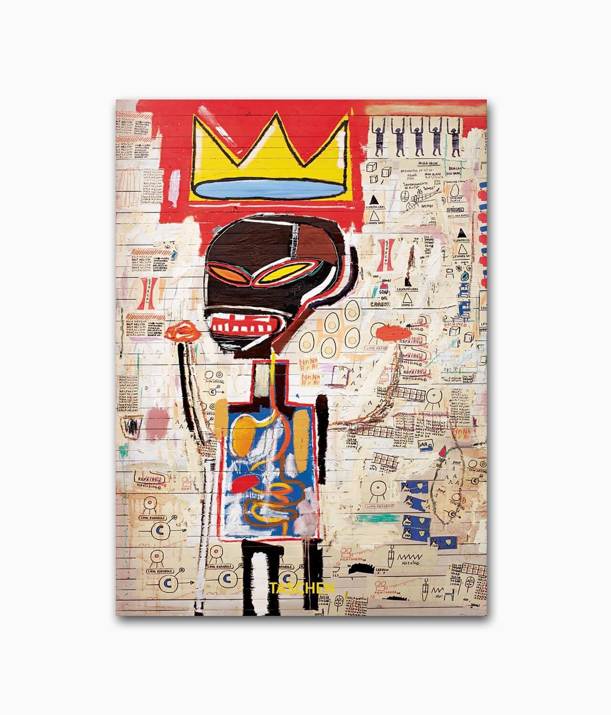 Cover vom Kunstbuch über den berühmten Künstler Jean-Michel Basquiat aus der 40th Anniversary Edition des TASCHEN Verlags