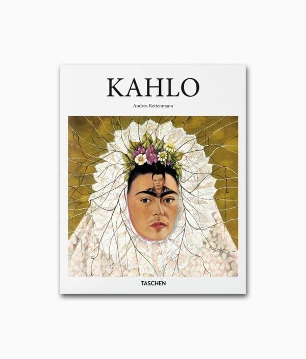Cover vom Kunstbuch über die berühmte Künstlerin Frida Kahlo vom TASCHEN Verlag Kleine Reihe