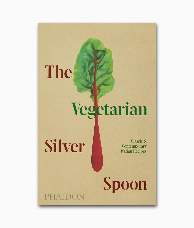 Cover des vegetarischen Kochbuchs namens The Vegetarian Silver Spoon Classic and Contemporary Italian Recipes Phaidon Verlag