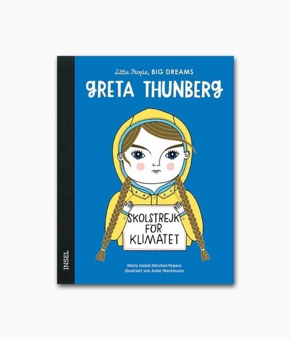 Cover des Kinderbuches über die besondere Persönlichkeit Greta Thunberg aus der Buchreihe Little People Big Dreams