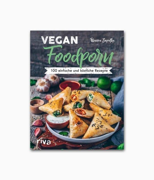 Cover des vegetarischen Kochbuches namens Vegan Foodporn riva Verlag Buchcover