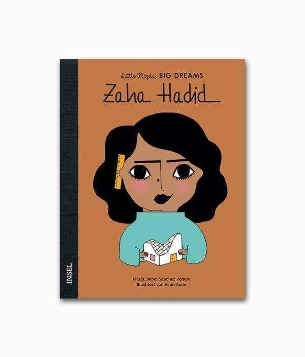 Cover des Kinderbuches über die berühmte Architektin Zaha Hadid aus der Buchreihe Little People BIG DREAMS