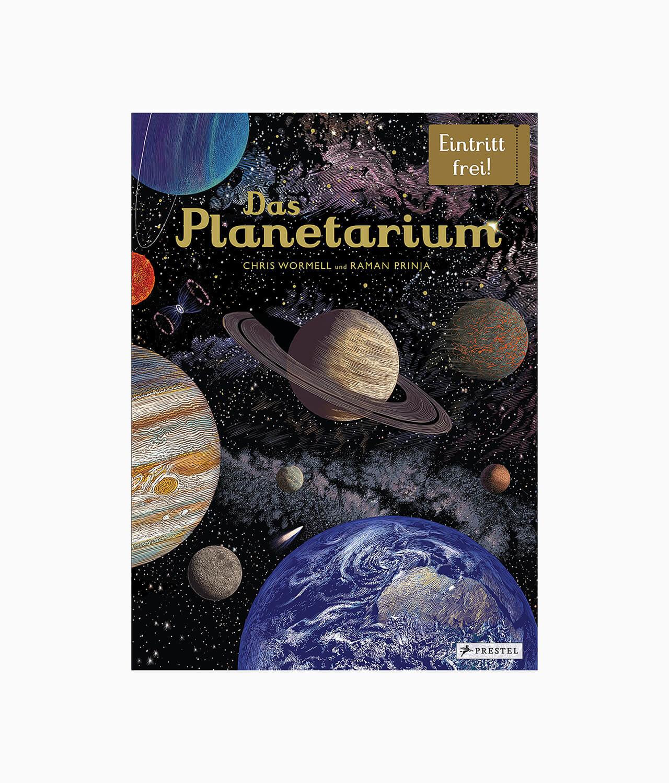 Cover vom Kinderbuch über das Weltall und Planeten von Eintritt frei vom Prestel Verlag
