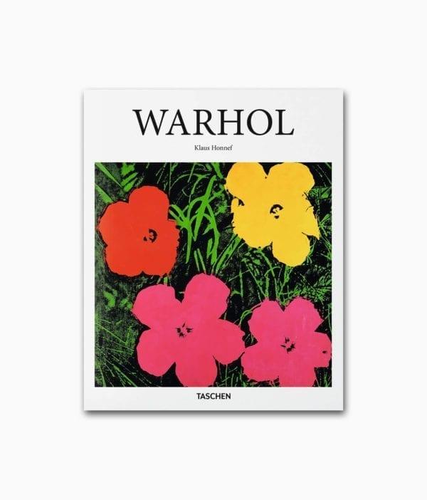 Buchcover eines Buches über Andy Warhol aus dem TASCHEN Verlag Kleine Reihe