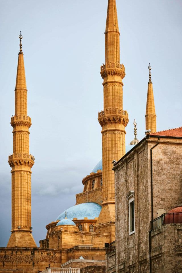 Ein Bild mit Moscheen aus dem nahen Osten aus einem Kochbuch mit Orientaltischen Rezepten