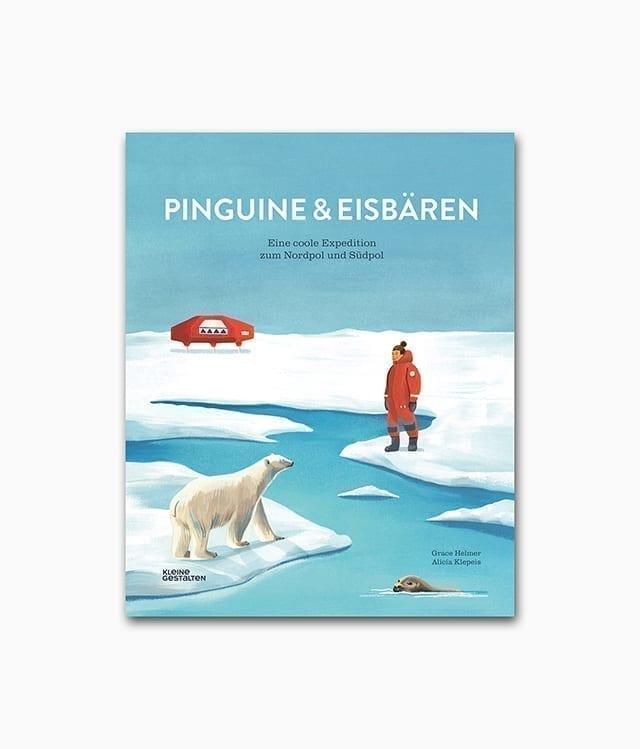 Pinguine und Eisbären gestalten Verlag Buchcover