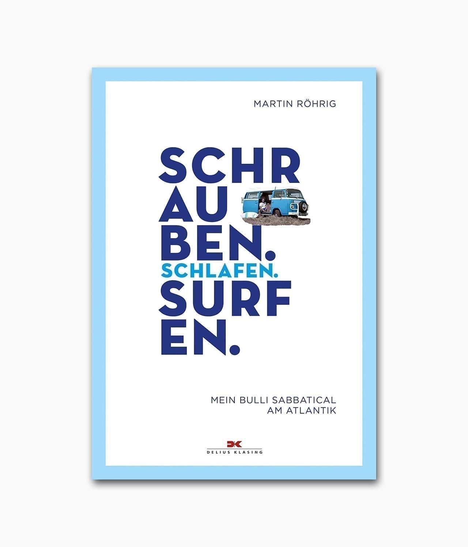 Cover vom Abenteuer und Lifestyle Buch zum Thema Surfen und Vanlife vom Delius Klasing Verlag