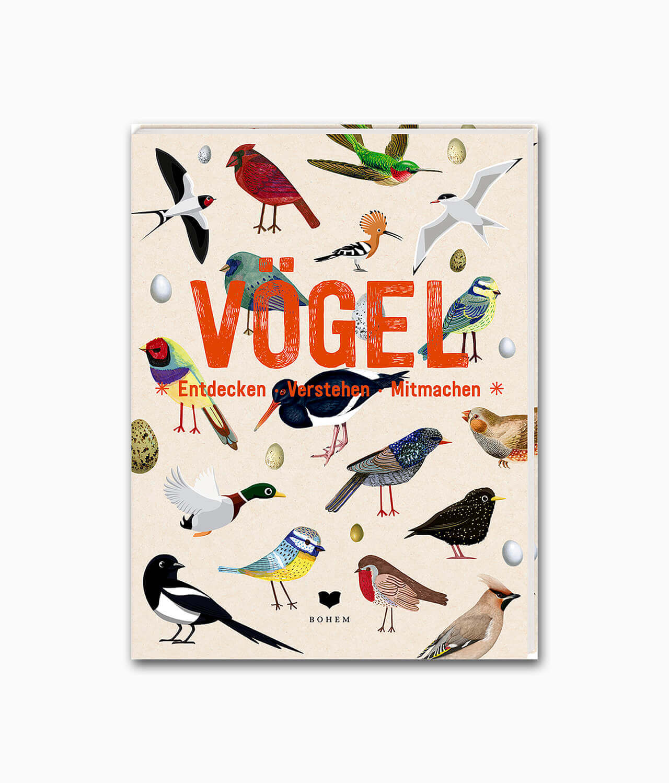 Cover vom Kinderbuch über Tiere und Vögel von Bohem Press