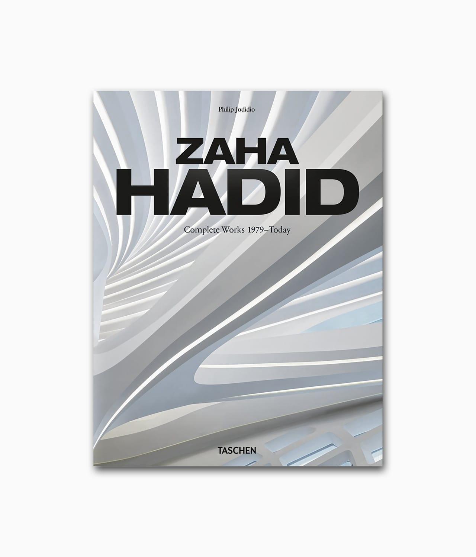 Cover des Architekturbuches über die berühmte Architektin Zaha Hadid aus dem TASCHEN Verlag