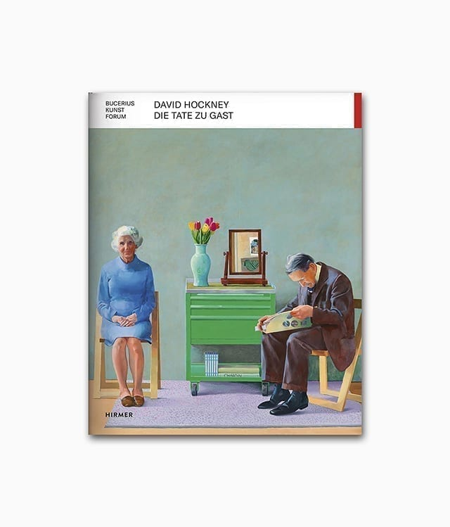 Cover vom Kunstbuch über den berühmten Künstler David Hockney vom Hirmer Verlag